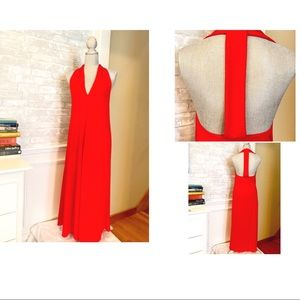 ZARA T-BACK RED DRESS
